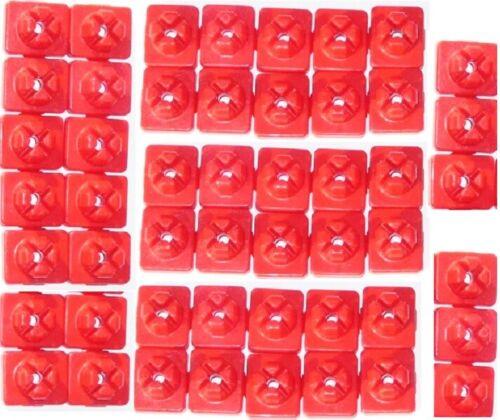 Playmobil 50 x STECKVERBINDER rot STECKER X System Clip Verbinder Steckzapfen