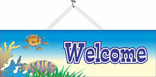 Tropical Fish Welcome Sign With Coral Reef For Pet Store Aquarium PM055