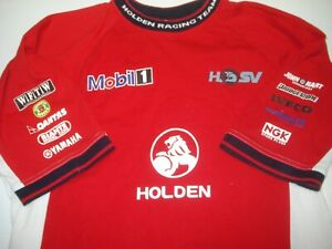 HRT-HSV-LIONS-DEN-MOBIL-ONE-HOLDEN-SZ-MEDIUM-MENS-RED-T-SHIRT-FREE-POSTAGE