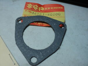 1979-88 SUZUKI RM100 RM125 EXHAUST GASKET NOS OEM PN 14181-40200 14181-40200-H17