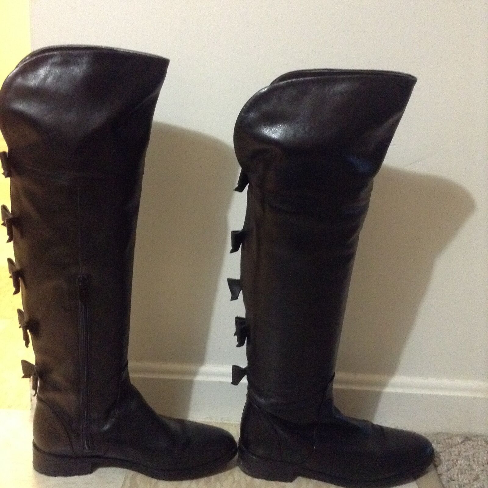 AUTHENTIC Sartore Black Leather Boots with Box 1170