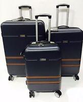 London Fog Weybridge Spinner Lightweight Expand Navy Luggage Set Hardside