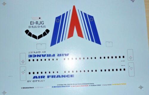 Silk Screen Decal 1//72   Space Models BAe 146-200  AIR FRANCE