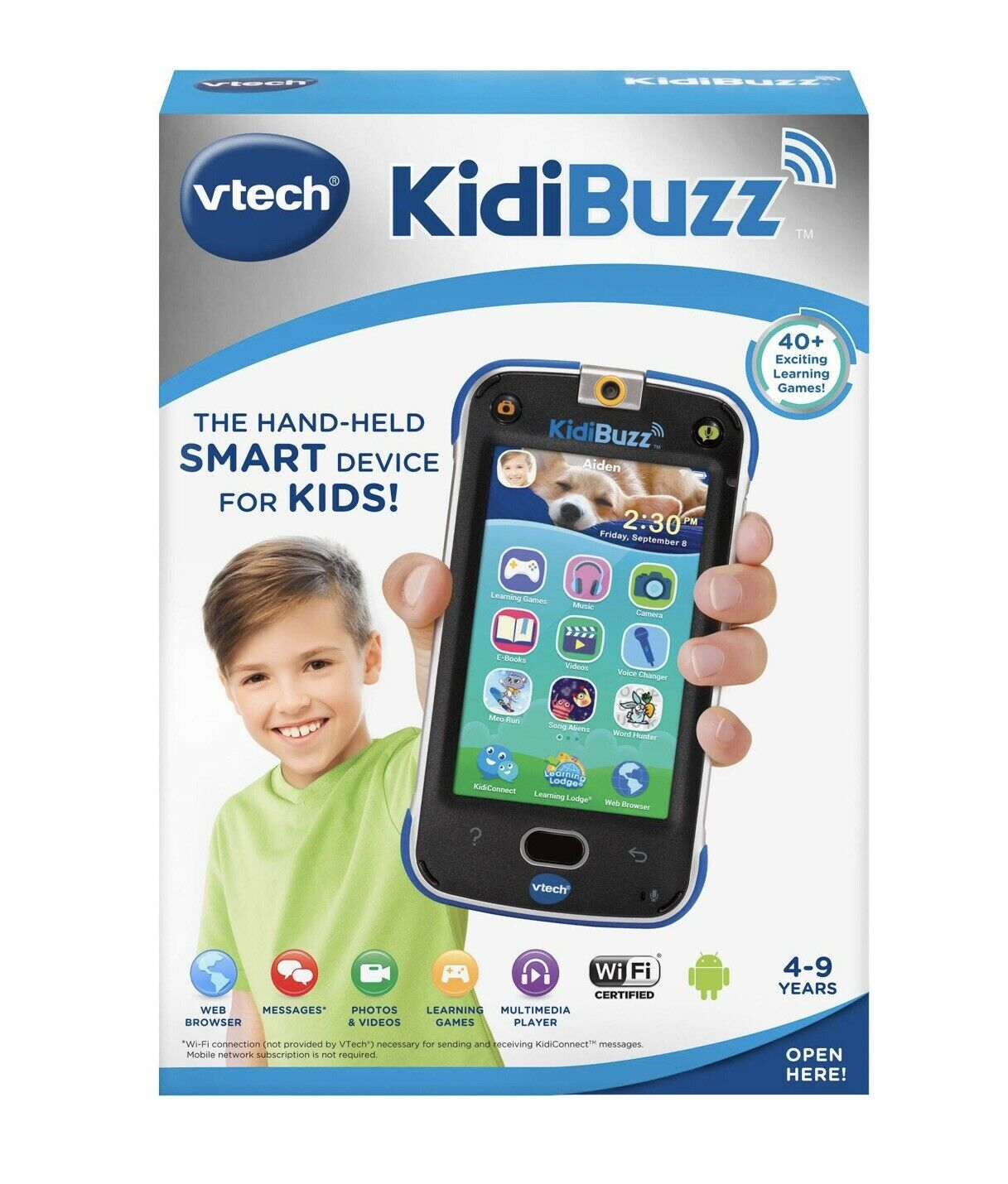 VTech KidiBuzz Blau Tablet - Kinder Smart Phone Brand New In The Box Smart Phone