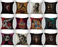 10pcs Wholesale Cushion Covers Day Of The Dead Sugar Skull Throw Pillow Covers