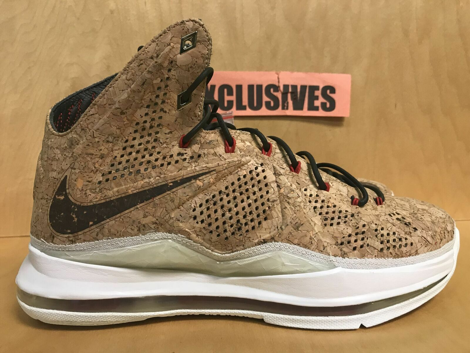 Nike Air Lebron X 10 Cork QS 2013 Classic Brown 580890 200 Very Limited Size 10