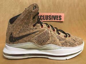 buy online 7e682 434fe Image is loading Nike-Air-Lebron-X-10-Cork-QS-2013-