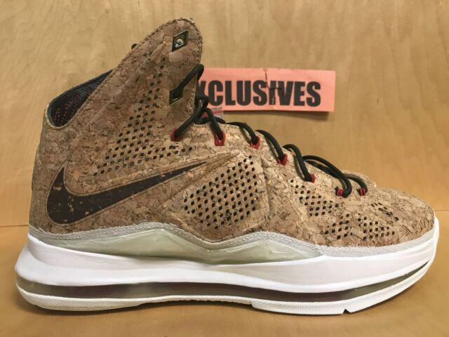 new concept 8545b 5b011 Nike Air Lebron X 10 Cork QS 2013 Classic Brown 580890 200 Very Limited Size  10