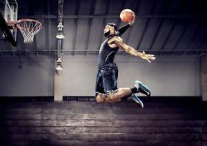 Lebron James Dunk Basketball Sport A3 Art Print Poster Yf5313 Ebay