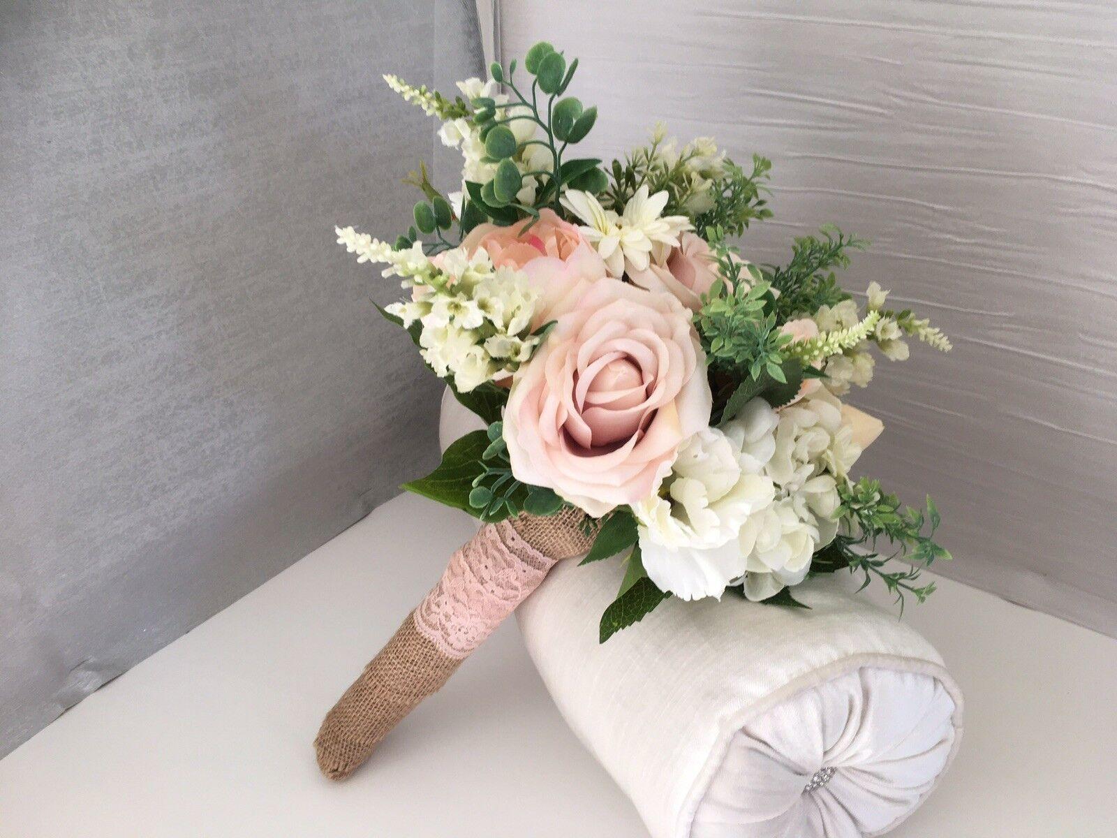 LOOSE Style Vintage Natural bleush rose et ivoire Mariage Bouquet de mariée