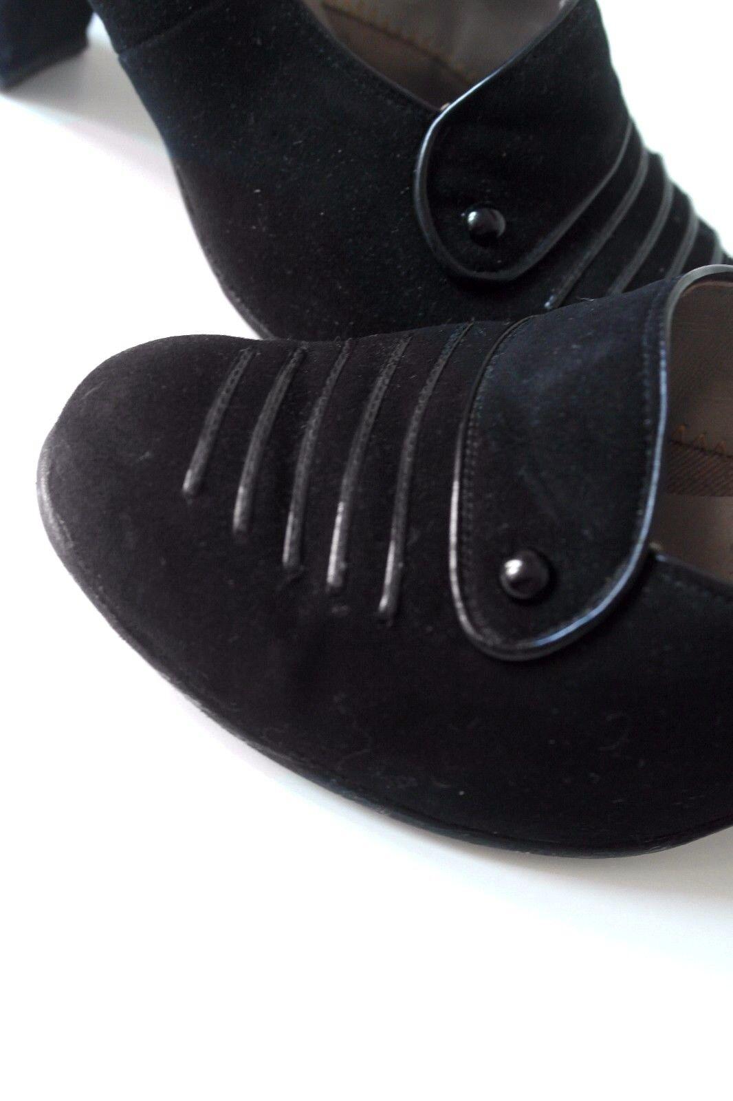 IRUS Damen Pumps Schuhe 50er TRUE VINTAGE VINTAGE VINTAGE UK 5 Veloursleder schwarz EUR 38 60s aef1f8