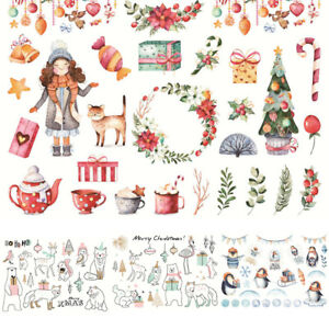Lovely-Painted-Paper-Stickers-DIY-Christmas-Adhesive-Diary-Album-Scrapbook-Decor