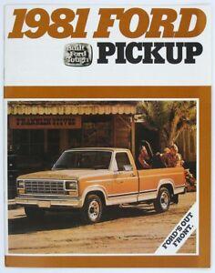 Ford 1981 Pickup F-100 F-150 F-250 F-350 F-350 DR Dealer Sales Brochure