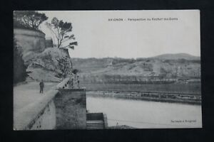 Postcard-Antique-Avignon-Perspective-To-Rocher-Of-Doms