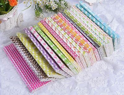 25 x Polka Dot Paper Straws - Birthday, Wedding, Baby Shower, Christening