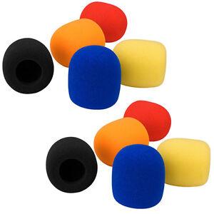 10-X-Colors-Handheld-Stage-Microphone-Windscreen-Foam-Mic-Cover-Karaoke-DJ-Sales