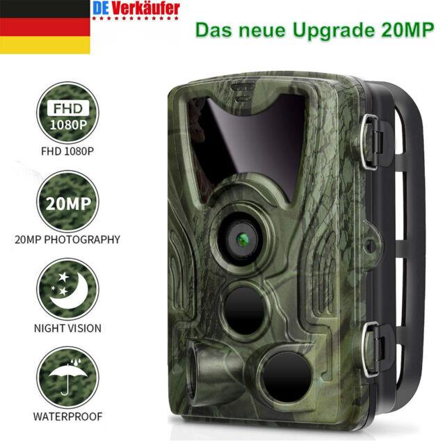 1080P JagdKamera Wildkamera Fotofalle Spiel Trail Wasserdicht IR Nachtsicht 20MP