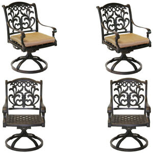 Outdoor Swivel Rocking Chairs Set Of 4