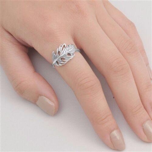 USA vendeur Feather ring sterling silver 925 Meilleur Prix Bijoux Cadeau Sélectionnable