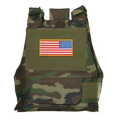 New Syle Tactical Airsoft Paintball Body Armor Vest Woodland Camo- US028