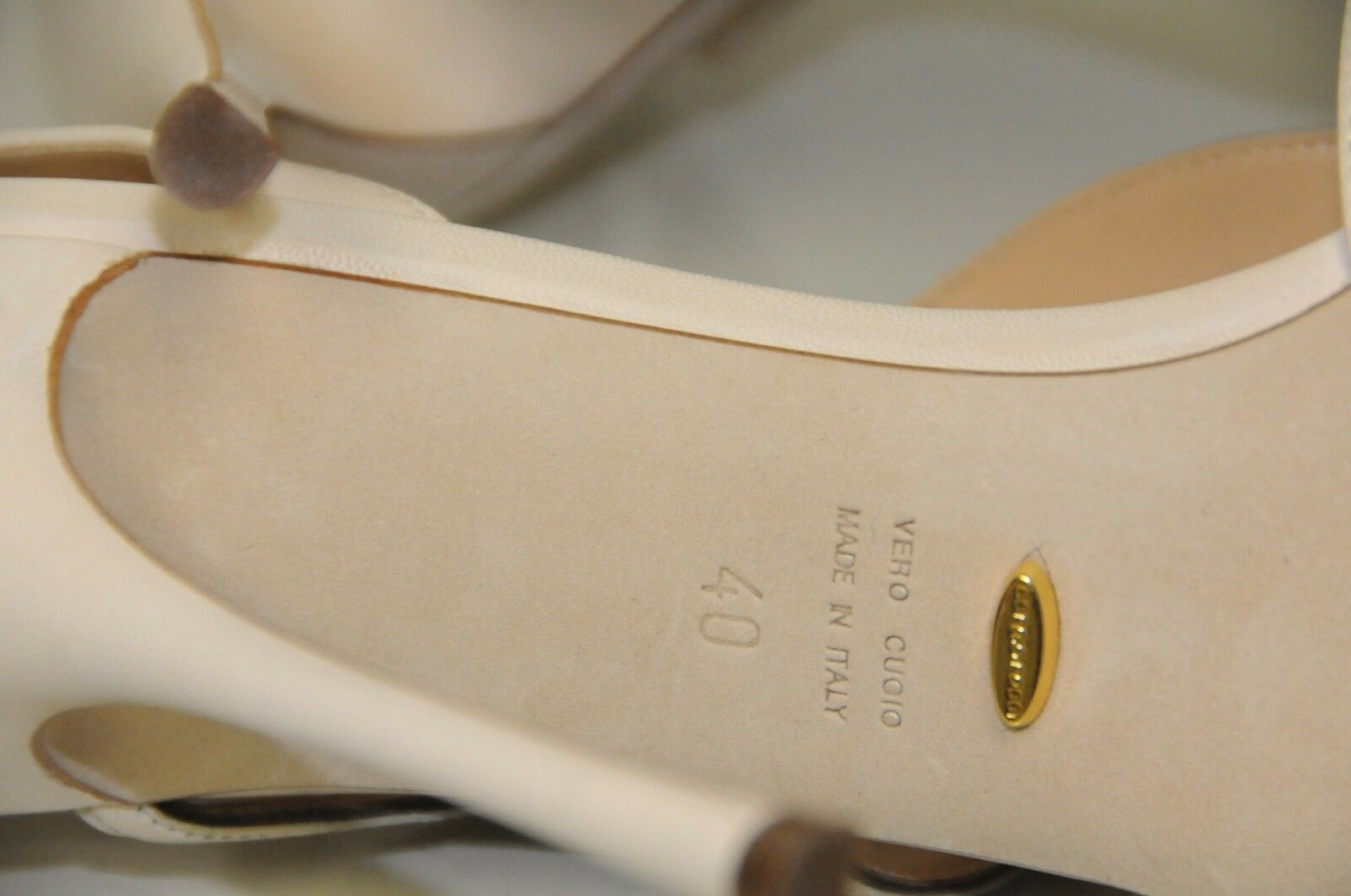 985 985 985 New Sergio Rossi NUDE Cream or Flora leather Sandals chaussures 40 wedding 25d55d
