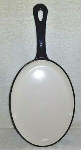 Rachael-Ray-Cast-Iron-Enameled-Oval-Fajita-Fry-Pan-Skillet-Royal-Blue