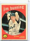 1959 Topps Baseball Card Jim Bunning HOF Pitcher Detroit Tigers Near Mint # 149