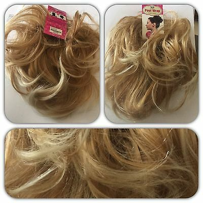 Top Hair Scrunchie Wrap Blonde Mix #27.613 Large Messy Scrunchie Bun Hairpiece
