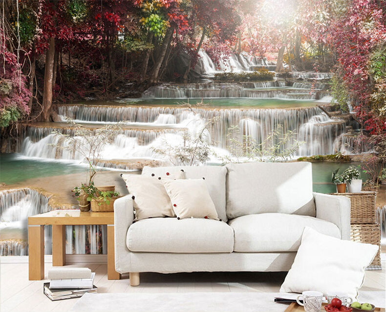 3D River Falls 1056 WallPaper Murals Wall Print Decal Wall Deco AJ WALLPAPER