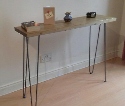 Industrial Hall Console Table Shabby chic Rustic Vintage Hairpin Leg