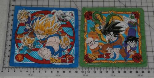 DRAGONBALL Z 11X11 CLOTH WALL HANGING ANIMENAPKIN LOT OF 2