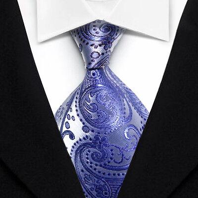 TK1058 Purple Floral New Classic WOVEN Silk JACQUARD Necktie Men's Tie