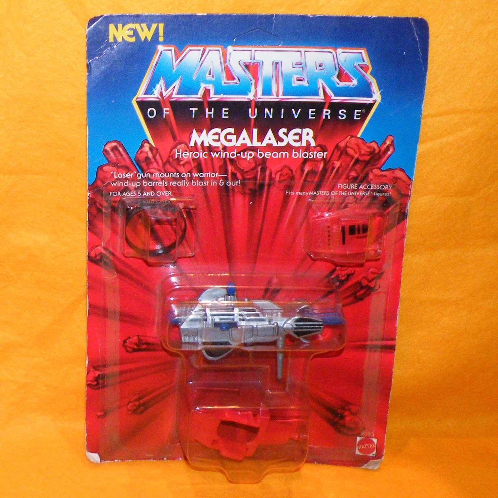 VINTAGE 1985 80s MATTEL MOTU HE-MAN MASTERS OF THE UNIVERSE MEGALASER MOC OPENED