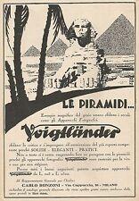 W1629 VOIGTLANDER - Illustrazione Piramidi - Pubblicità del 1930 - Old advert