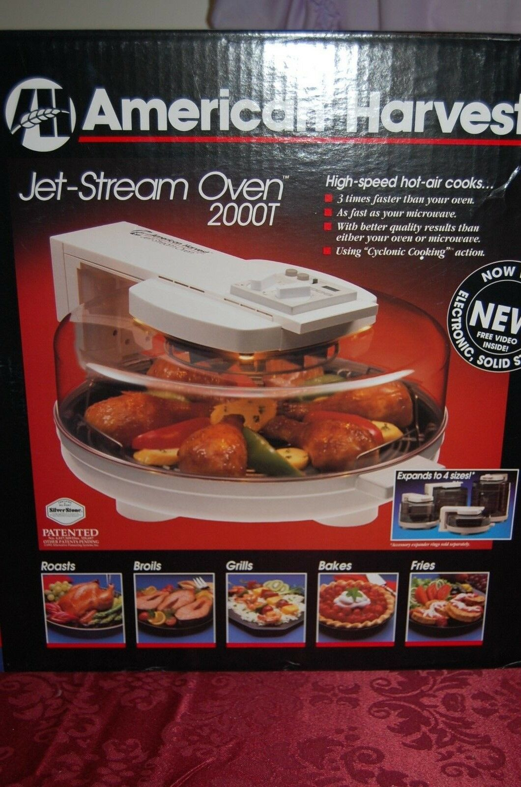 American Harvest JET-STREAM OVEN Model 2000T NEW IN BOX Hot Air Cooking