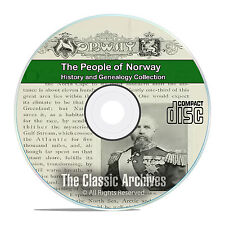 Norway People Cities and Towns History and Genealogy 37 Books DVD CD B26