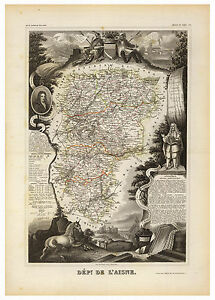 Aisne-Laon-Picardy-France-illustrated-map-Levasseur-ca-1856