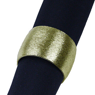 SET OF 6 BRUSHED GOLD NAPKIN RINGS, 60% Off Sale, Have 100s in stock