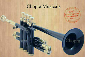 Piccolo-Trumpet-Black-4-Valve-with-Box-High-Quality-Chopra