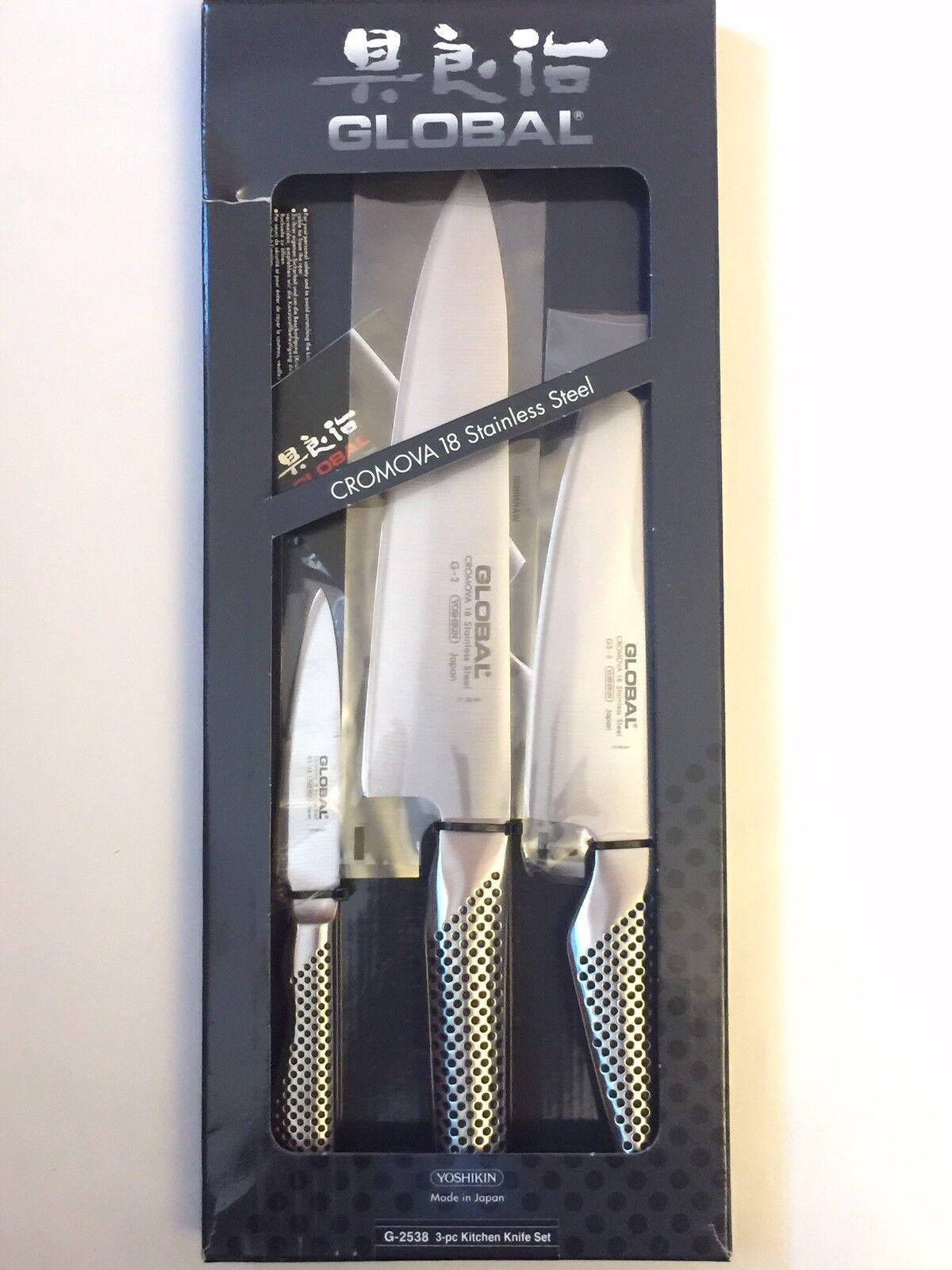 Global G-2538 3-Pièces Set Couteaux avec chef's, légumes et couteau à éplucher