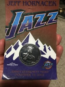 size 40 7d232 64c4c Details about Jeff Hornacek 2002 Utah Jazz LEGEND Retirement Coin