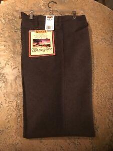 9af5a248 Image is loading Wrangler-USA-Mens-Brown-Wrancher-Polyester-Pants-Dress-