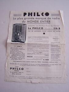 Publicite , La Plus Grande Marque De Radio Du Monde Entier , Philco Modele 116 B F46xnaiw-08004226-156215552