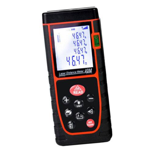 Laser Measure 100m//328ft Digital Distance Meter Handheld Measurer m in// ft