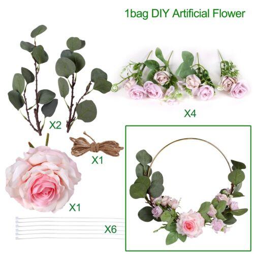 Artificial Rose Flower Wreath Garland Hoop Wedding Hanging Decoration DIY Craft