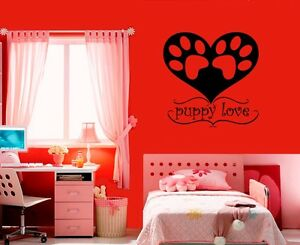 Wall-Stickers-Vinyl-Decal-Imprint-Paw-Trail-Puppy-Love-ig224