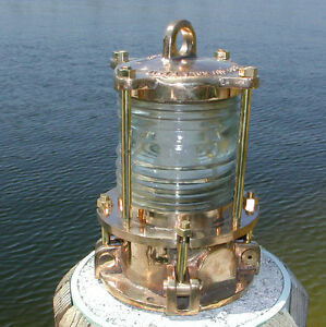 Nautical bronze piling post nautical dock light marine for Key west style lighting