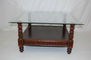 Image Is Loading Coffee Table Glass Coffee Table Centre Table Wooden