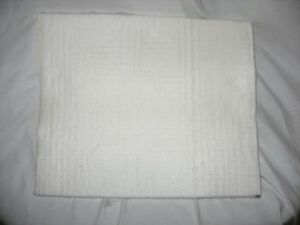 WHITE NOMEX FELT HEAT PAD SIZE 16 X 20 X .5 NEW SUBLIMATION