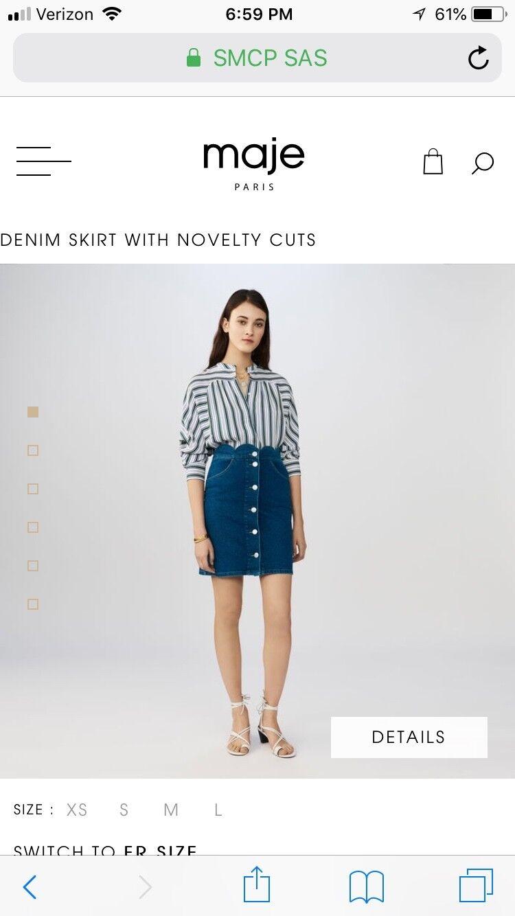 Maje denim skirt size 38 (M)